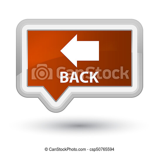 Back prime brown banner button - csp50765594