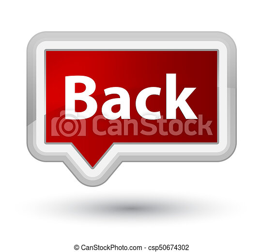 Back prime red banner button - csp50674302