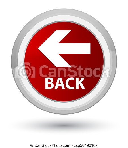 Back prime red round button - csp50490167