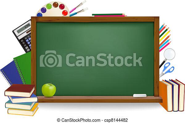 back, school. - csp8144482