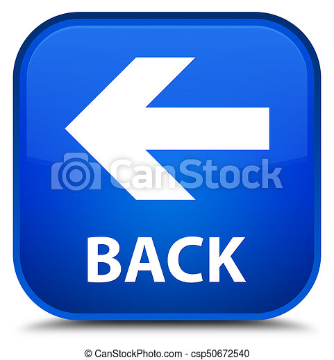 Back special blue square button - csp50672540