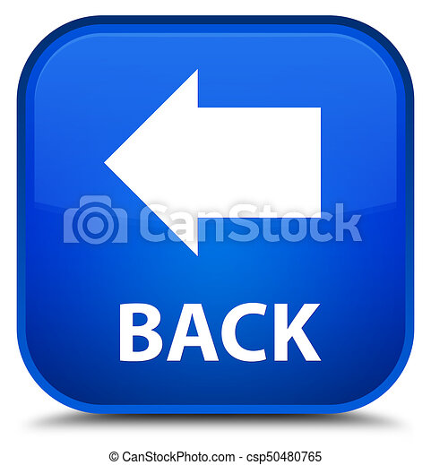 Back special blue square button - csp50480765