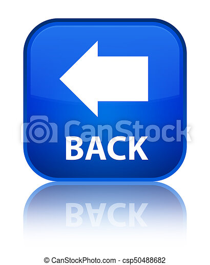 Back special blue square button - csp50488682