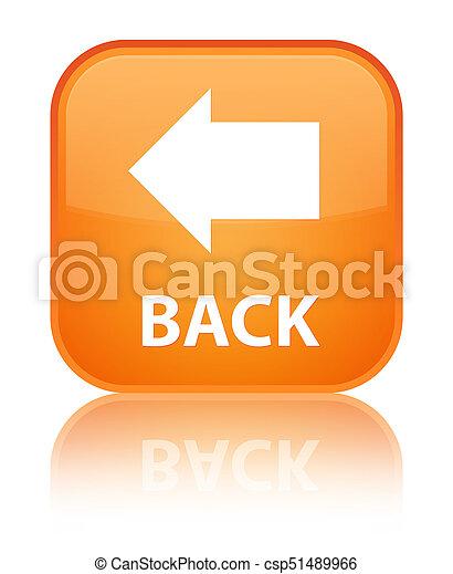 Back special orange square button - csp51489966