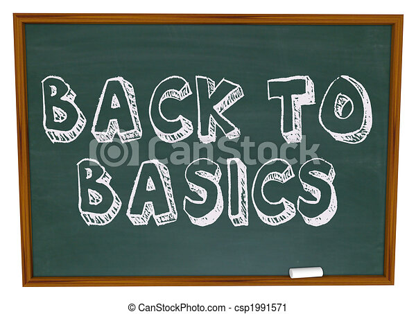 Back to Basics - Chalkboard - csp1991571