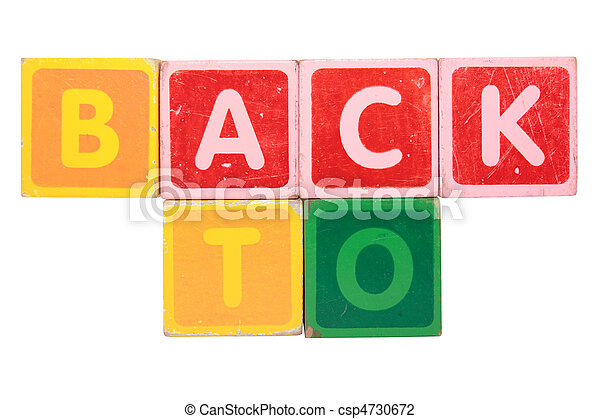 back to in toy block letters - csp4730672