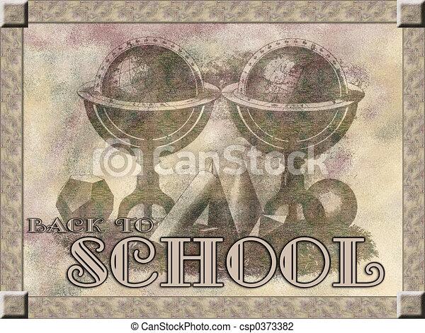 Back to School backg - csp0373382
