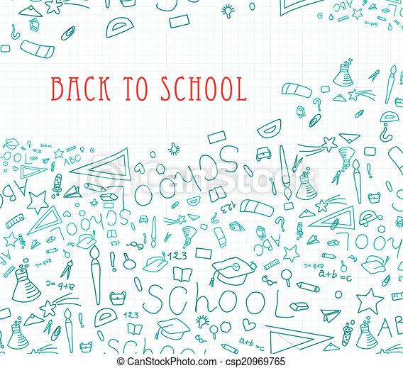 Back to school background - csp20969765