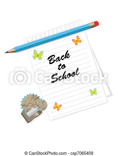 Back to school  background  - csp7065409