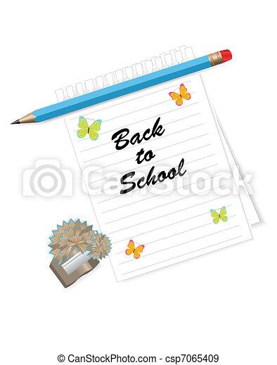 Back to school  background  - csp7065409