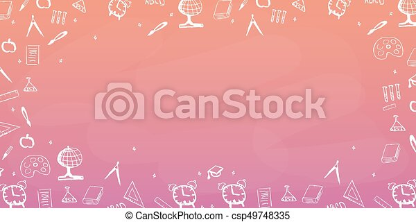 Back To School Background Education Banner Vector Illustration Back To School Background Education Banner Vector