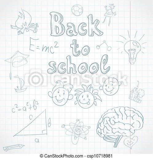 Back to school background. - csp10718981