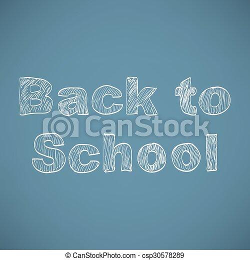 Back to school background - csp30578289