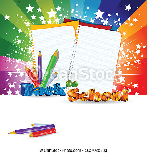 Back to School background - csp7028383