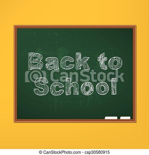 Back to school background - csp30580915