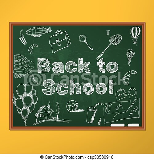 Back to school background - csp30580916