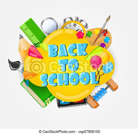 Back to School Background Vector Illustration - csp57909150