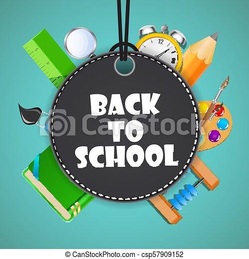 Back to School Background Vector Illustration - csp57909152