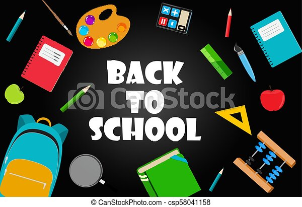 Back to School Background Vector Illustration - csp58041158