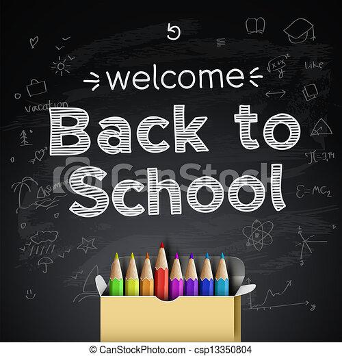Back to school background - csp13350804