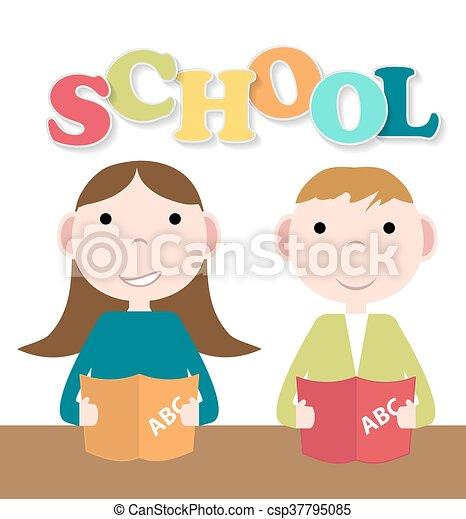 Back to School Background Vector Illustration - csp37795085