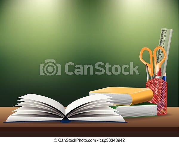 Back to school background, vector illustration - csp38343942