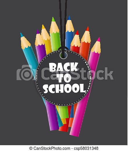 Back to School Background Vector Illustration - csp58031348