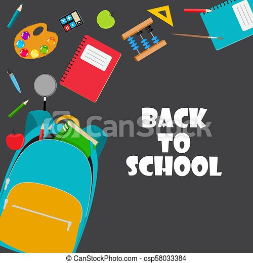 Back to School Background Vector Illustration - csp58033384