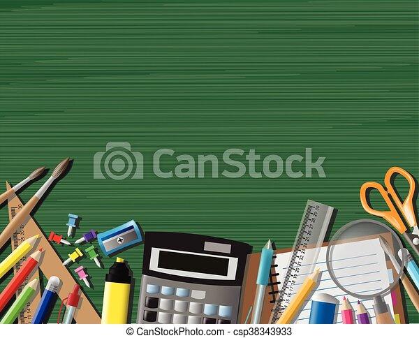 Back to school background, vector illustration - csp38343933