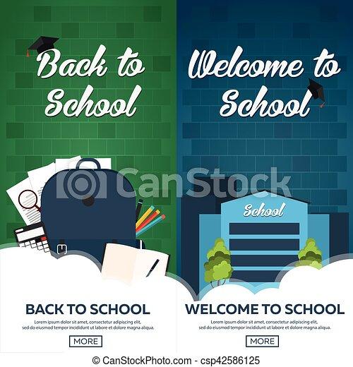 Back to school background, vector illustration. - csp42586125