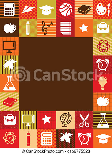 back to school - background with education icons - csp6775523