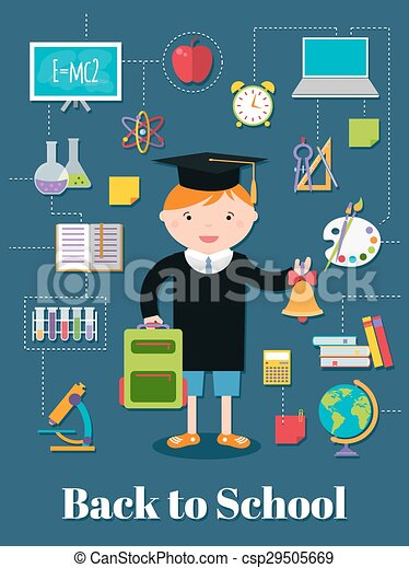 Back to school.  background with school supplies. - csp29505669