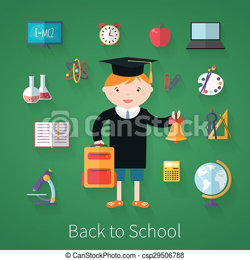 Back to school.  background with school supplies.  - csp29506788