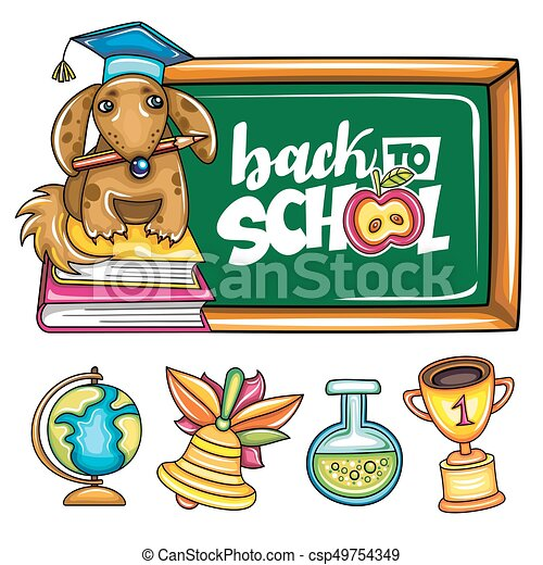 Back to school banner and icons. - csp49754349