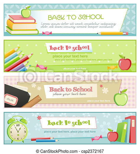 back to school banners - csp2372167
