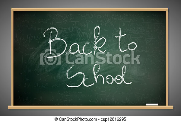 Back to school blackboard - csp12816295