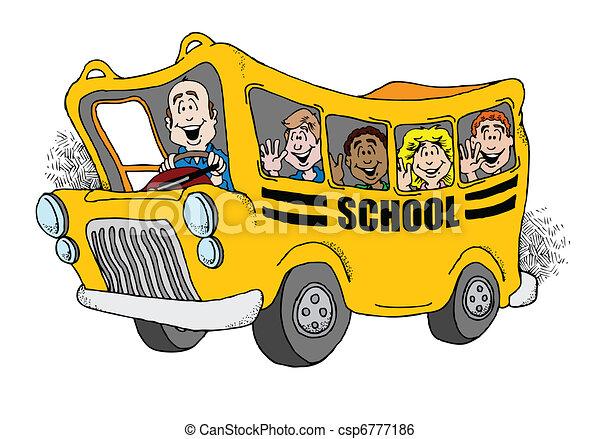Back to School Bus - csp6777186