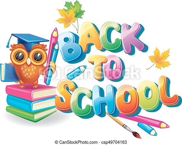 Wise Owl Near Back To School Text Clip Art Vector Search Drawings Rh Canstockphoto Ca Welcome Clipart
