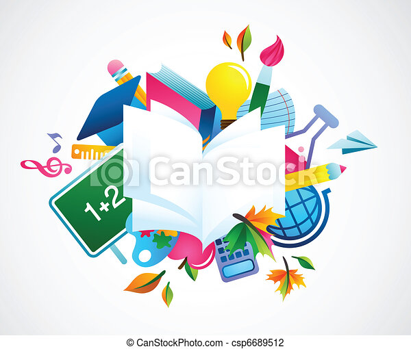 back to school - colorful background - csp6689512