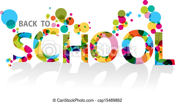 Back to school colorful circles EPS10 background file. - csp15489862