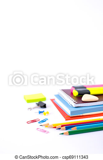 Back to school concept isolated on white background - csp69111343