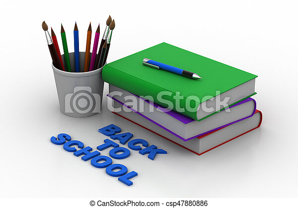 Back to school concept - csp47880886