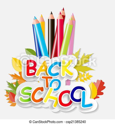 Back to School Concept Vector Illustration - csp21385240