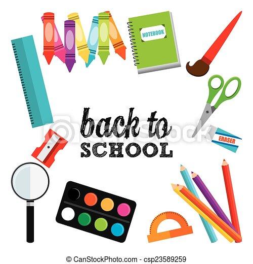 back to school design  - csp23589259