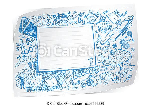 Back to School Doodle - csp8956239