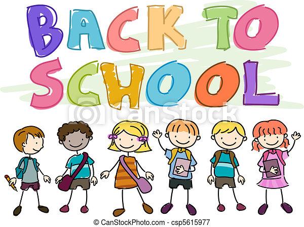 Back to School Doodle - csp5615977