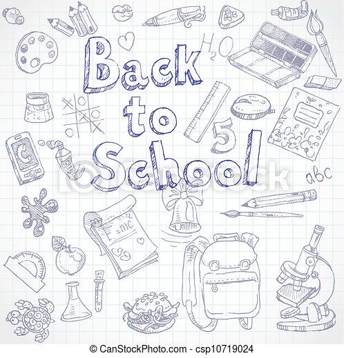 Back to School doodles  - csp10719024