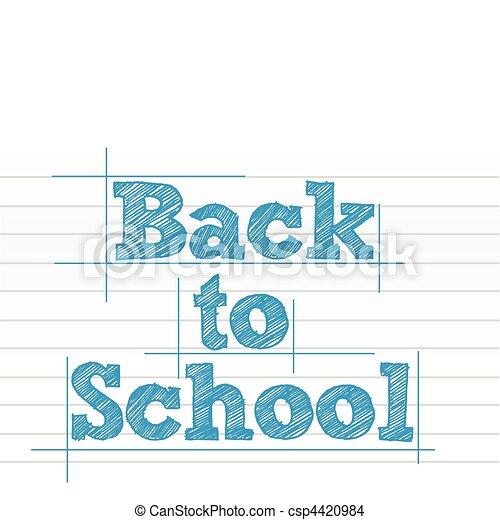 Back to school - csp4420984