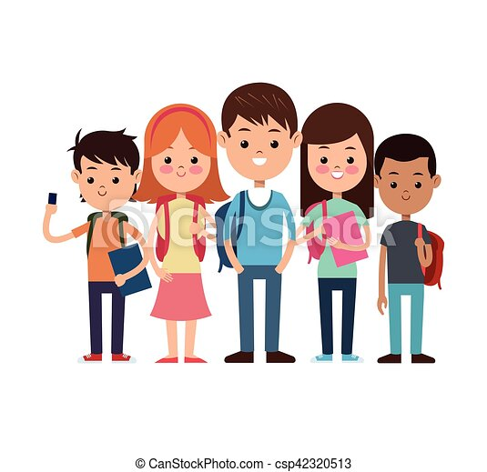 stickman kids group study girls illustration of girls vectors rh canstockphoto com Girls United Group Clip Art
