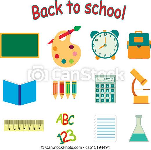 back to school icon set - csp15194494